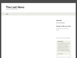 THE LOST NEWS