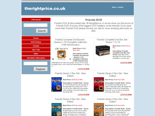 Friends Dvds at therightprice.co.uk