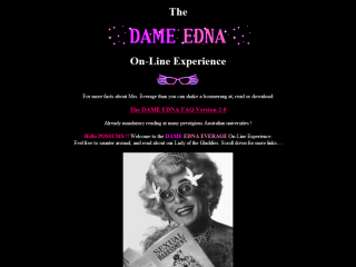 The Dame Edna On-Line Experience
