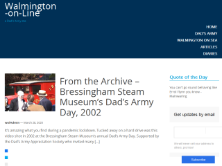 Walmington-on-Line - A Dad's Army Site