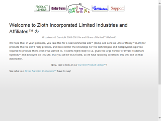 Zioth Incorporated Limited Industries and Affiliates(tm)(r)